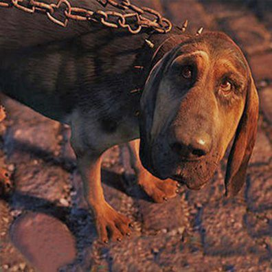 Bayard Famous Dog In Movie Alice Wonderland