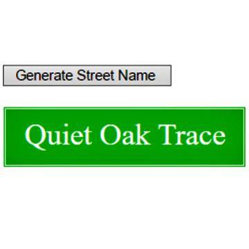 Street Name Generator