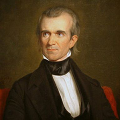 U. S. president and spouse James Knox Polk