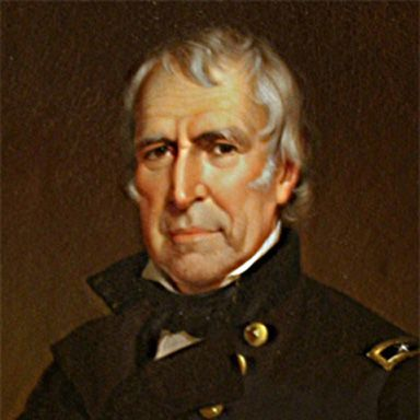 U. S. president and spouse Zachary Taylor