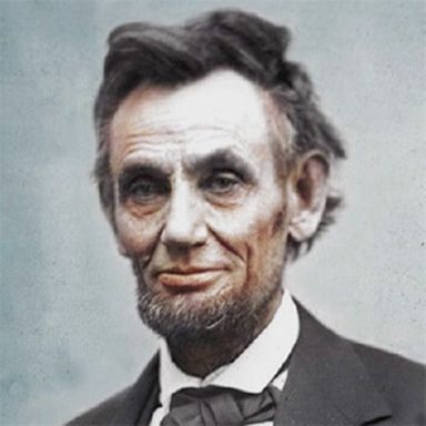 U. S. president and spouse Abraham Lincoln