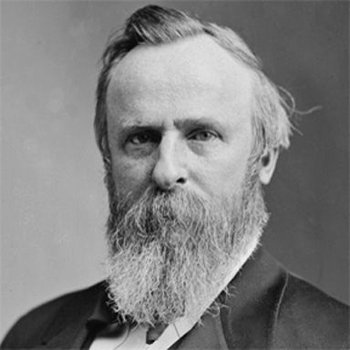U. S. president and spouse Rutherford B Hayes