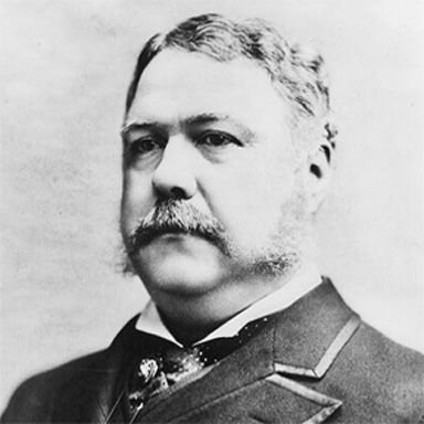 U. S. president and spouse Chester Alan Arthur