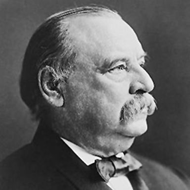 U. S. president and spouse Stephen Grover Cleveland