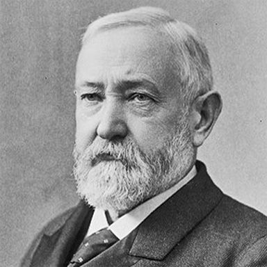 U. S. president and spouse Benjamin Harrison
