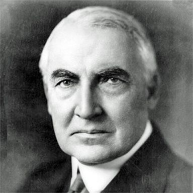 U. S. president and spouse Warren Gamal Harding