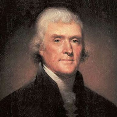 U. S. president and spouse Thomas Jefferson