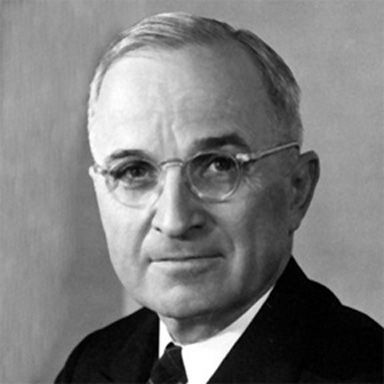 U. S. president and spouse Harry S Truman