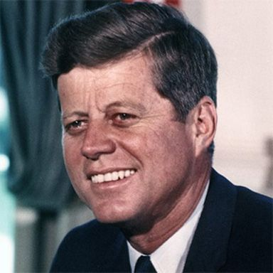 U. S. president and spouse John Fitzgerald Kennedy