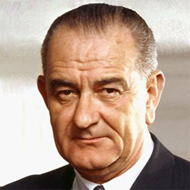 U. S. president and spouse Lyndon Baines Johnson