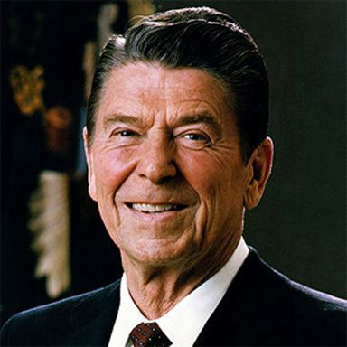U. S. president and spouse Ronald Wilson Reagan