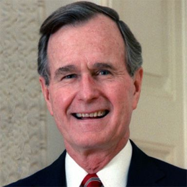 U. S. president and spouse George Herbert Walker Bush