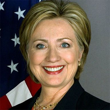 U. S. president and spouse Hillary Diane Rodham Clinton
