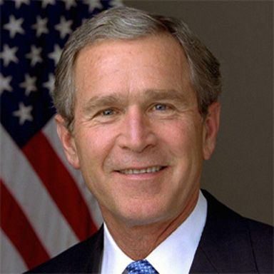 U. S. president and spouse George Walker Bush