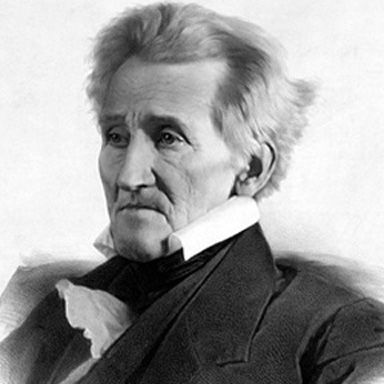 U. S. president and spouse Andrew Jackson