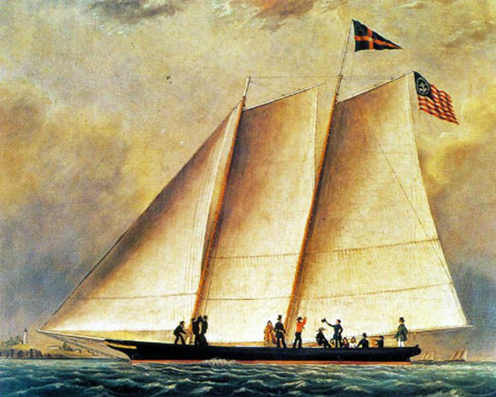 famous ships, America racing yacht