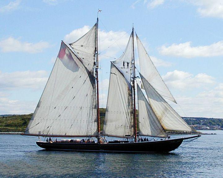 famous ships, Bluenose schooner ship