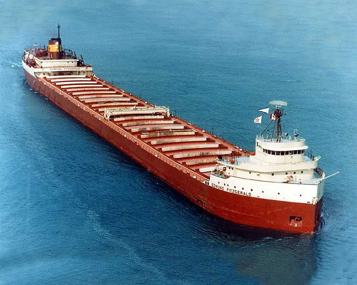 Famous Ship Edmund Fitzgerald SS Of American