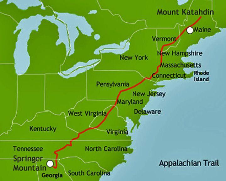 famous streets Appalachian Trail