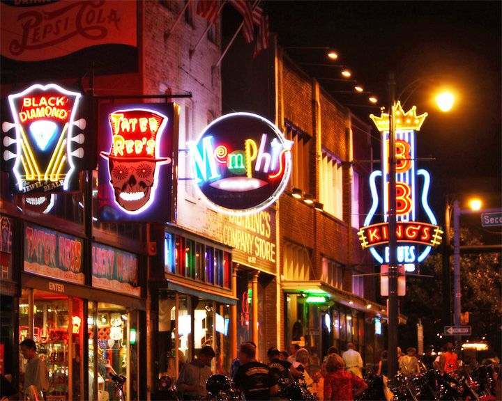 famous streets Beale Street