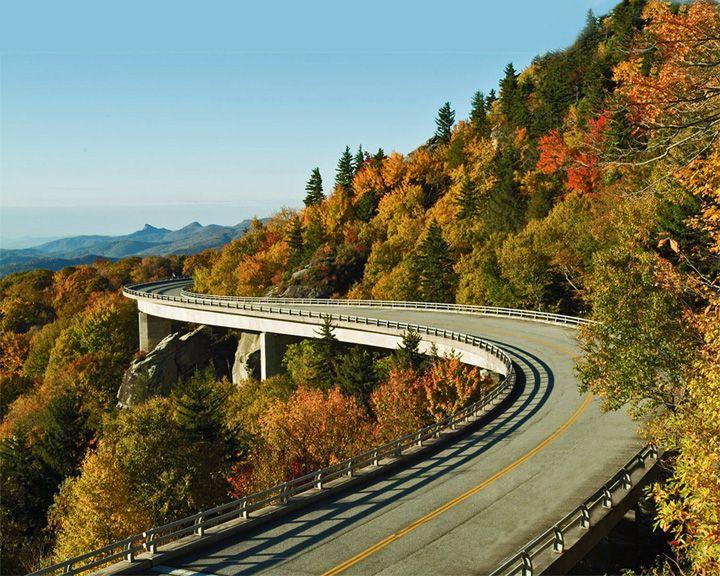 famous streets Blue Ridge Parkway