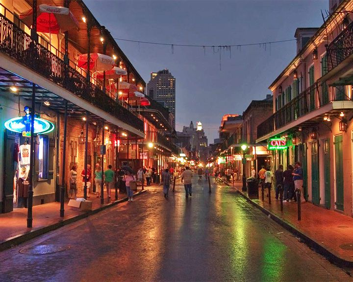 famous streets Bourbon Street