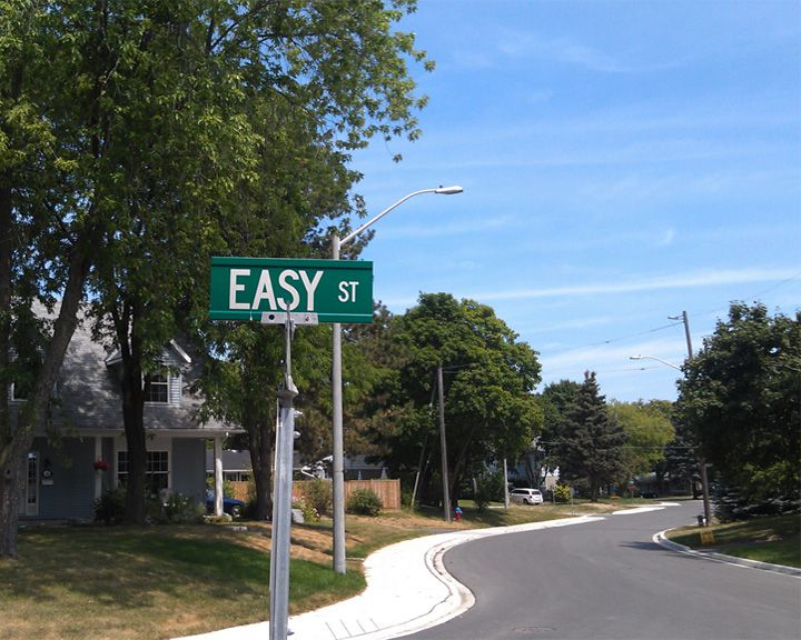 famous streets Easy Street
