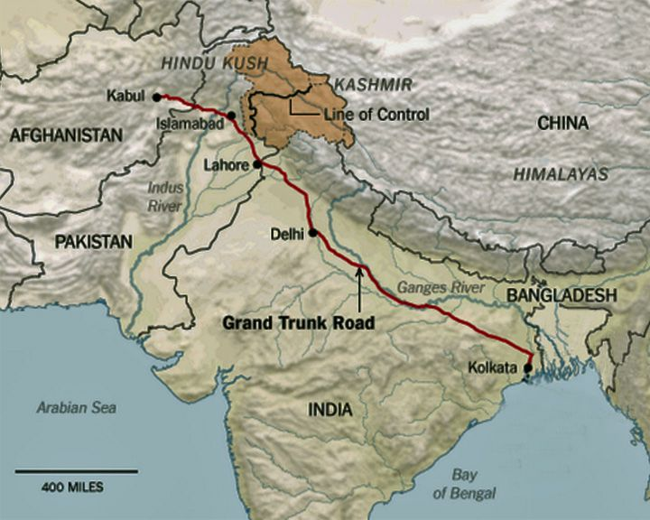 famous streets Grand-Trunk Road