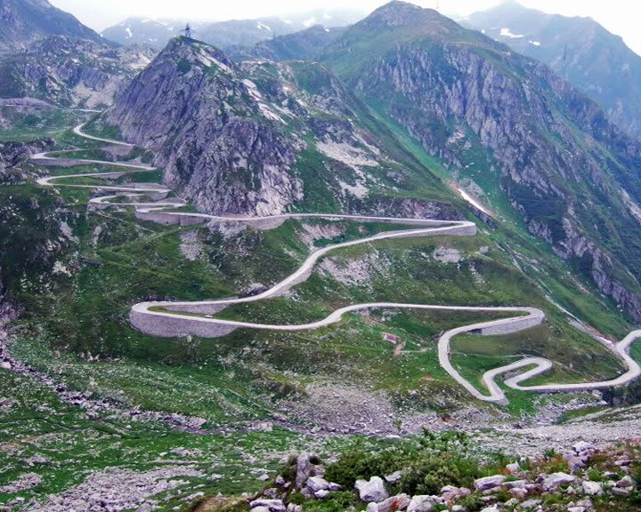 famous streets Great St. Bernard Pass