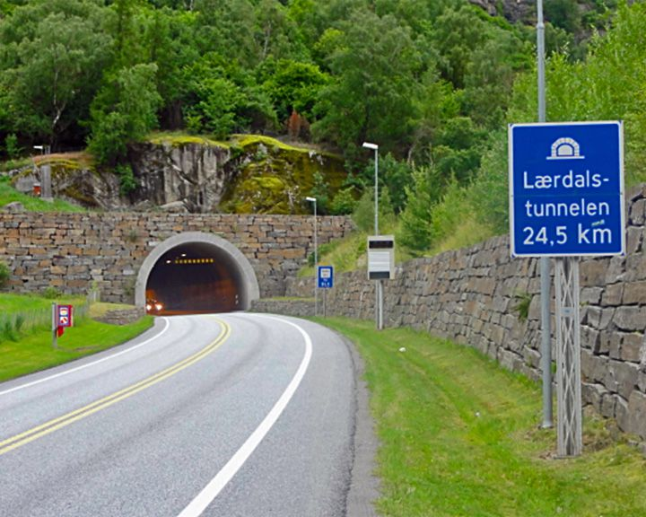 famous streets Lærdal Tunnel