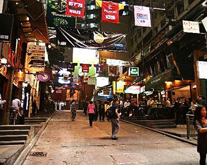 famous streets Lan Kwai Fong
