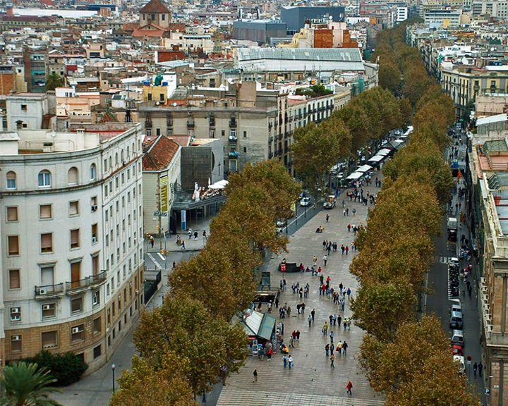famous streets La Rambla