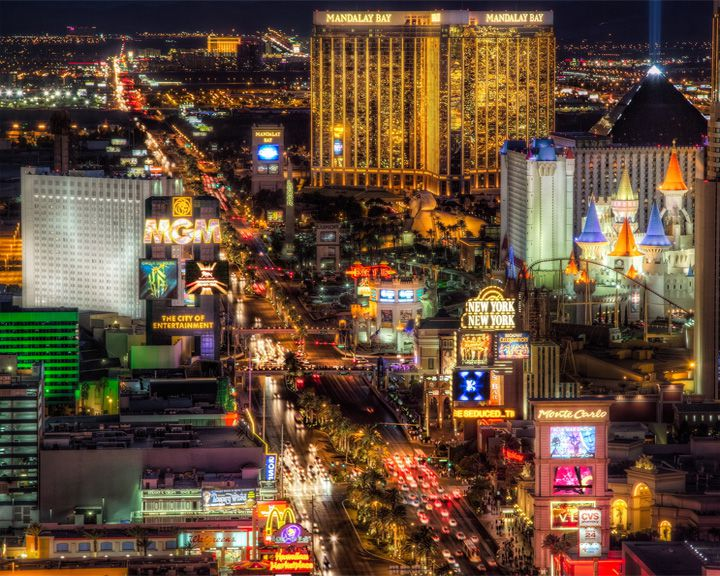 famous streets Las Vegas Boulevard