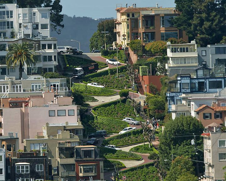 famous streets Lombard Street
