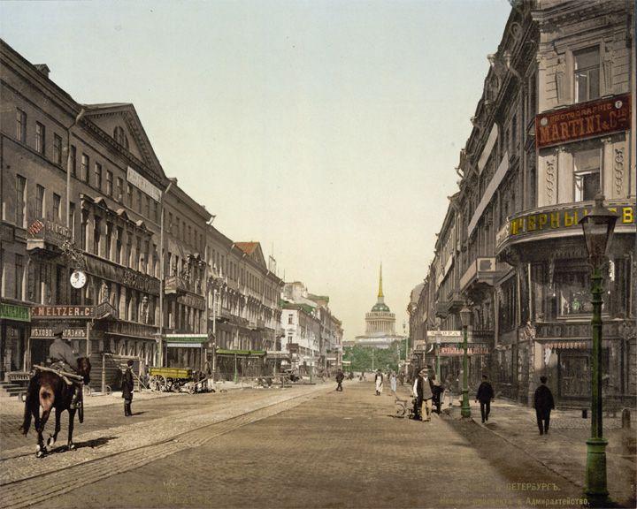 famous streets Nevsky Prospekt