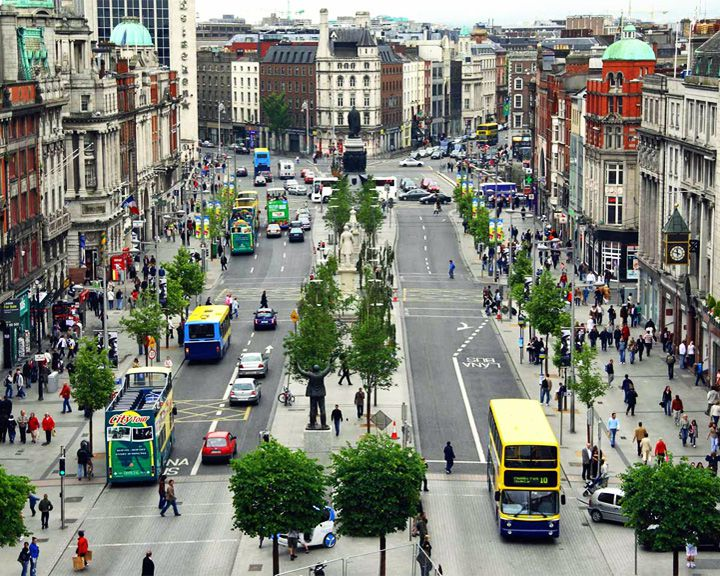 famous streets O'Connell Street