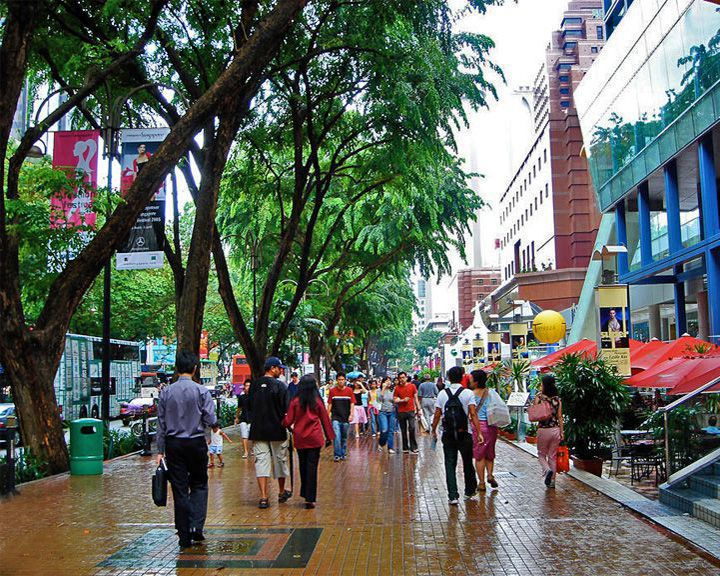 famous streets Orchard Road