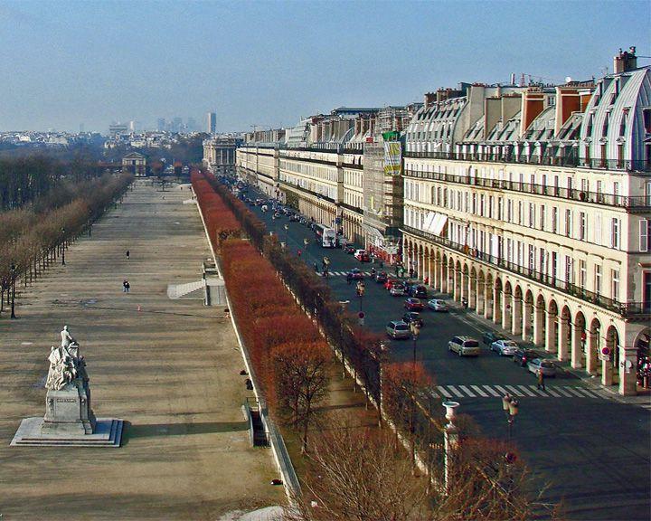 famous streets Rue de Rivoli