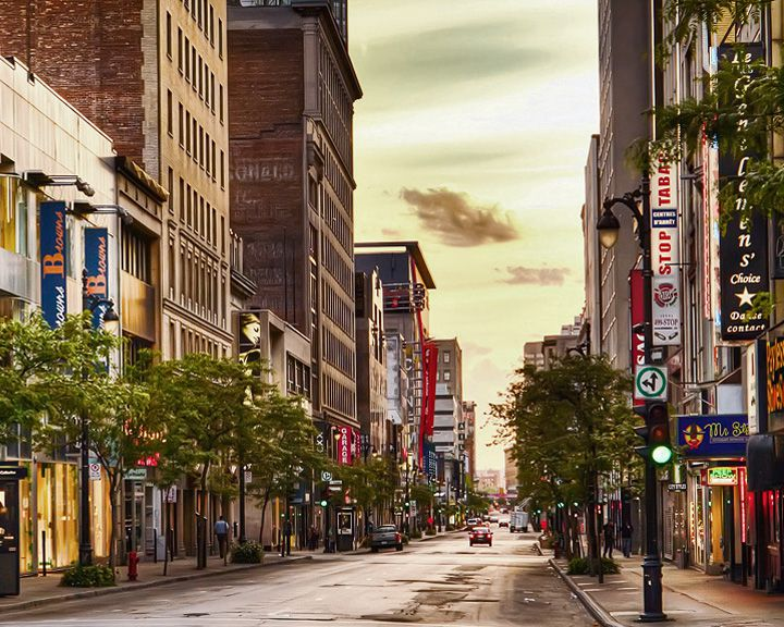 famous streets Saint Catherine Street