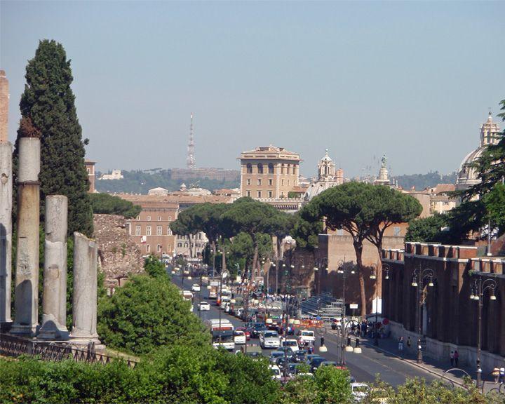 famous streets Via dei Fori Imperiali