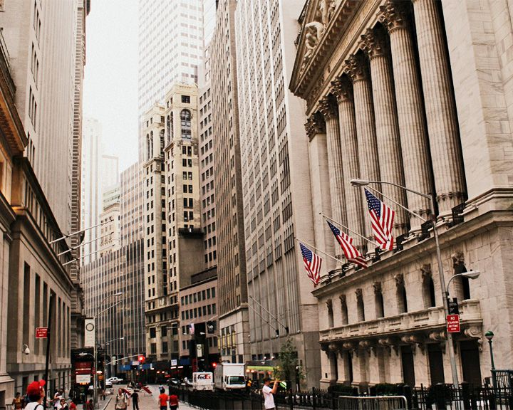 famous streets Wall Street