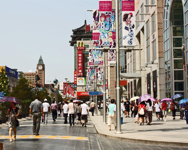 famous streets Wangfujing