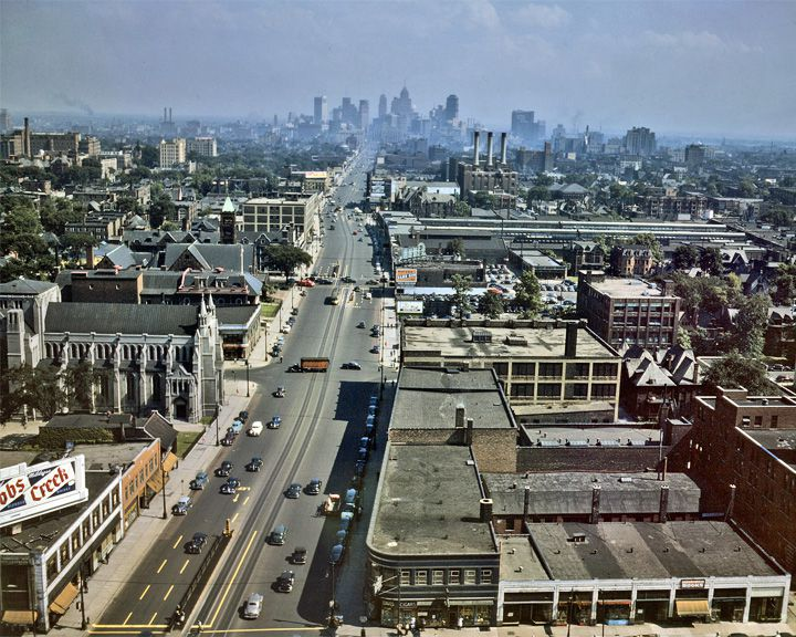 famous streets Woodward Avenue