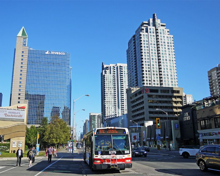 famous streets Yonge Street